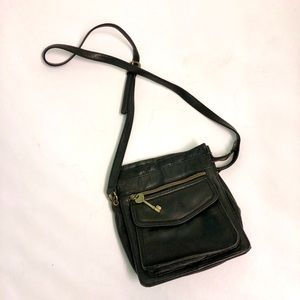 Fossil Vintage | Crossbody Black Leather Purse